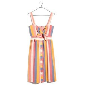 Madewell   Striped Tie Top Dress.